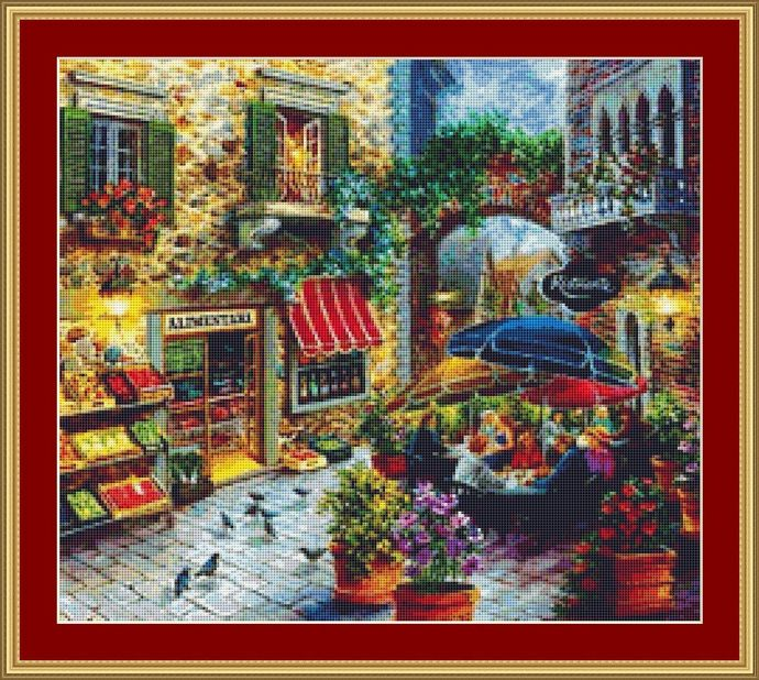 Quiet Evening Cross Stitch Pattern - Instant Digital Downloadable Pattern