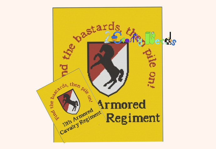 11th Regiment Pattern Graph With Single Crochet Written