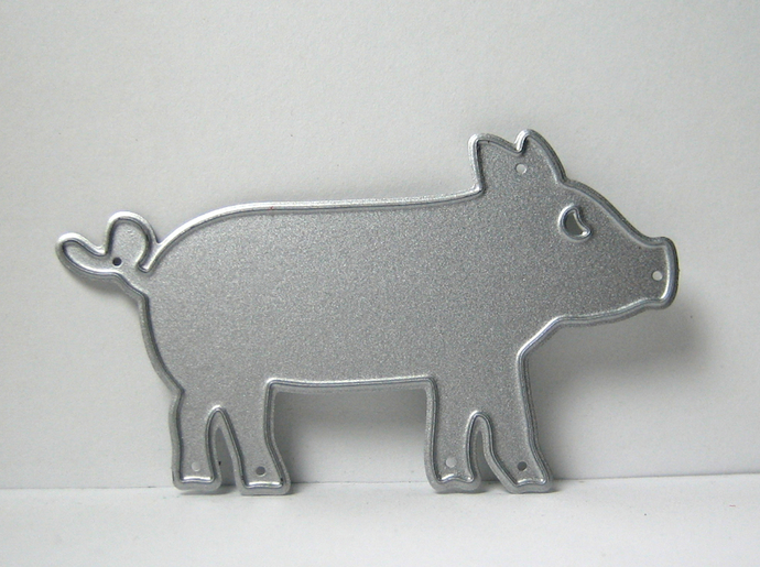 This Little Piggy Metal Cutting Die, Pig