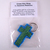 Blue and Green Plarn Cross Key Ring