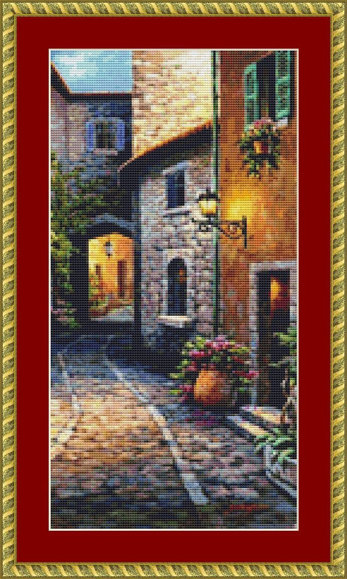 Stone Arch Cross Stitch Pattern - Instant Digital Downloadable Pattern