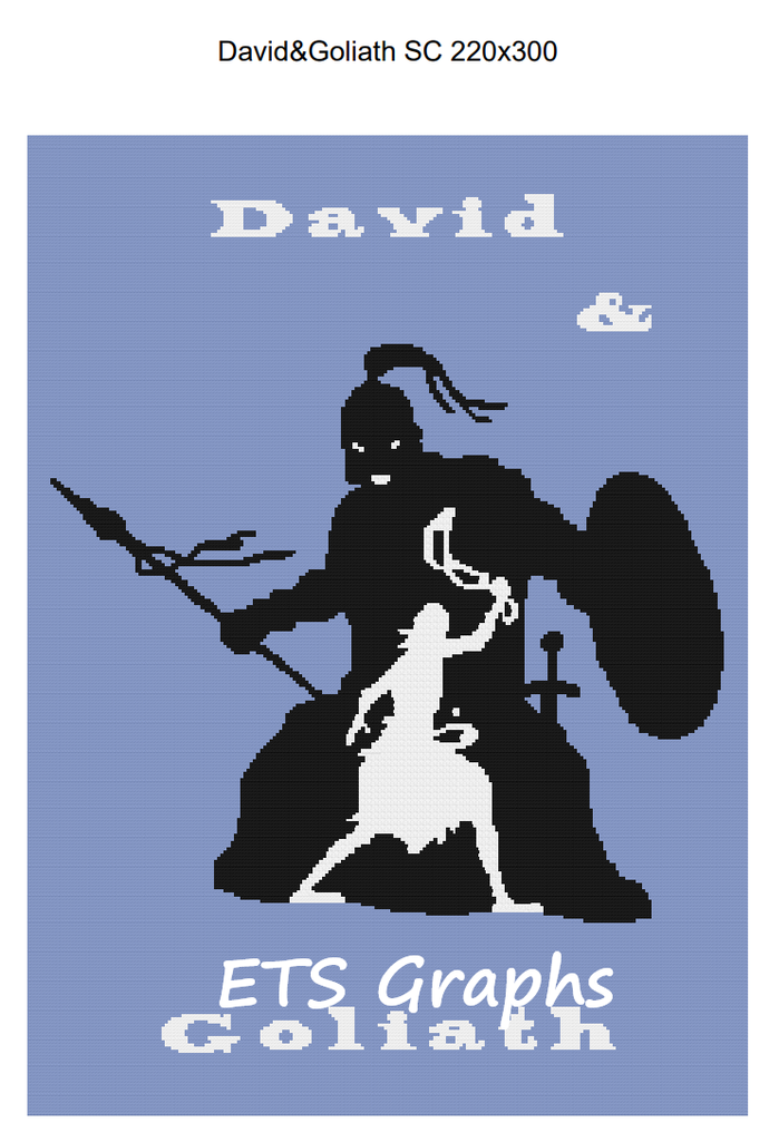 David & Goliath SC 220x300 Twin Graph with Written Color Block Chart