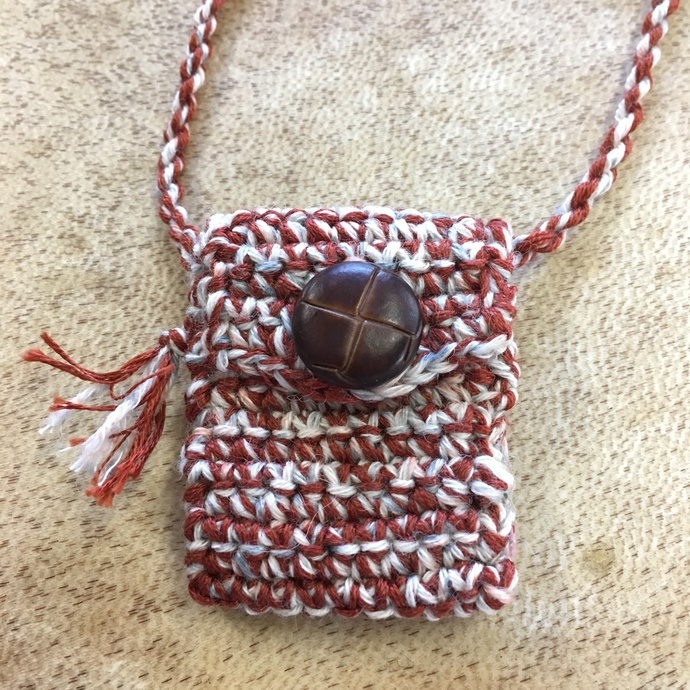 Muddled - a Hand Crocheted Spirit Pouch