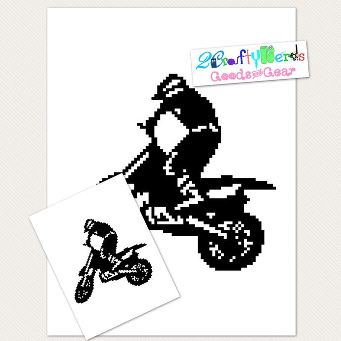 Motorcross (larger) Pattern Graph With C2C Written