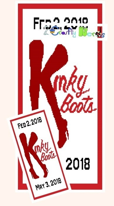 Kinky Boots Pattern Graph With Half Double Crochet Written