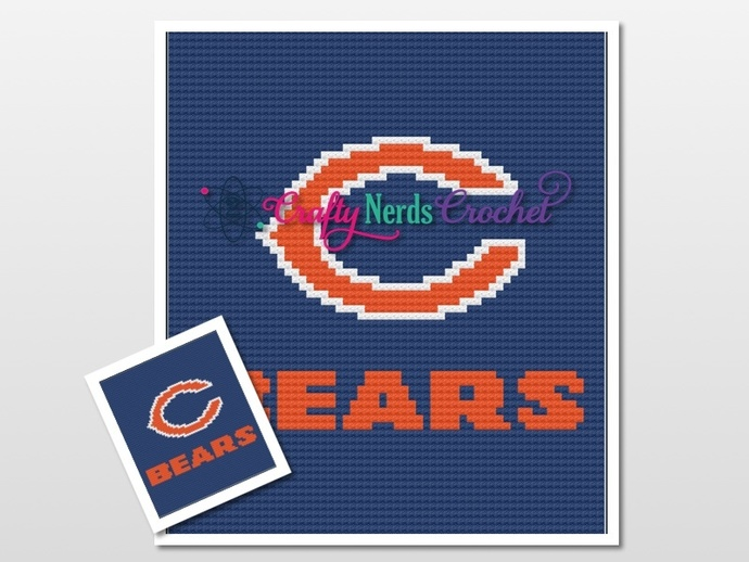 Chicago Bears Pattern Graph With C2C written