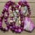 The Balancing Necklace Pink Chrysanthemum Long Beaded Necklace with Pendant
