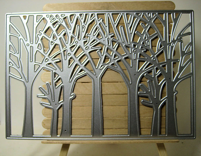 Woods Tree Square Cutting Die Frame Forest Die Cuts