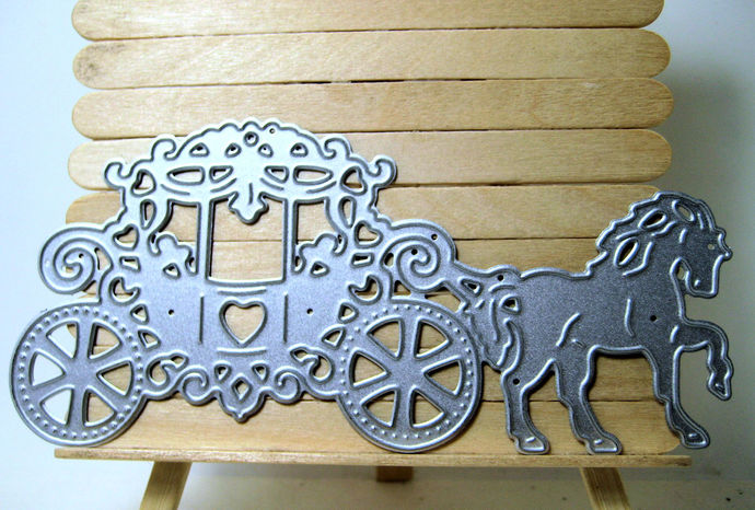 Horse and Princess Carriage Metal Cutting Die NEW STYLE