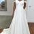 Custom Made White A Line Formal Wedding Dress Vestido de novia