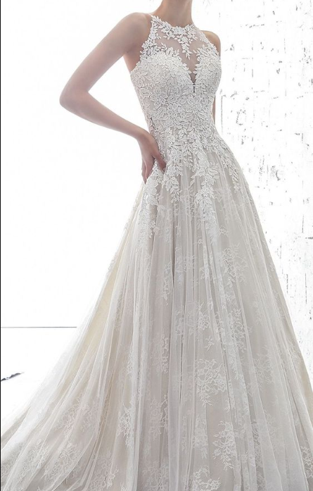 o-onek White Tulle Wedding Dress with Appliques,Off The Shoulder Bridal Dress