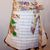 Woman's Apron, Tan Stripe Towel Apron, Half Apron, Gift for Mom, Hand Painted