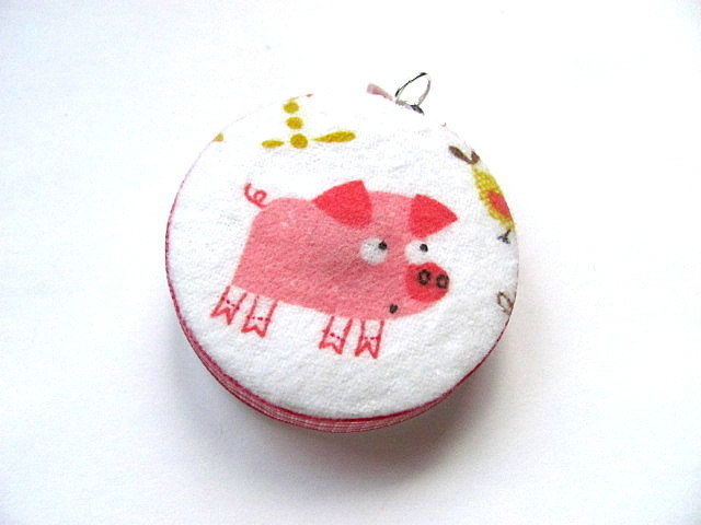 Tape Measure Pink Pigs and Peeps Retractable Tape Measure