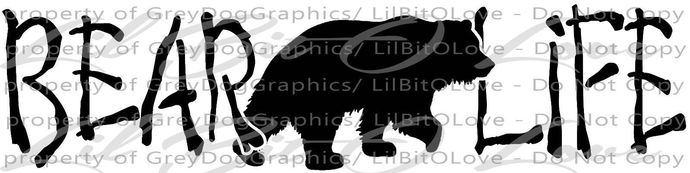 Bear Life Vinyl Decal Grizzly Black Bear Sticker Hunting Big Game Mountains