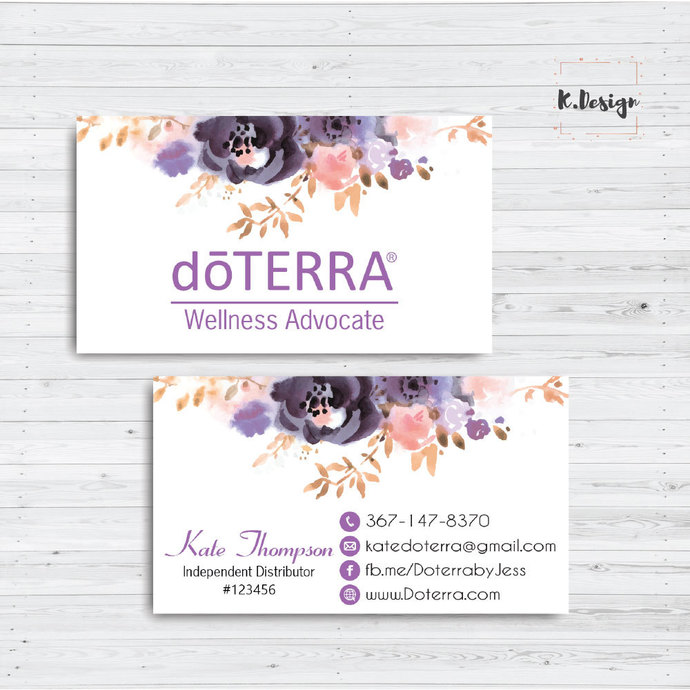 Personalized Doterra Business Card, Essential Oil card, Doterra Business Cards,