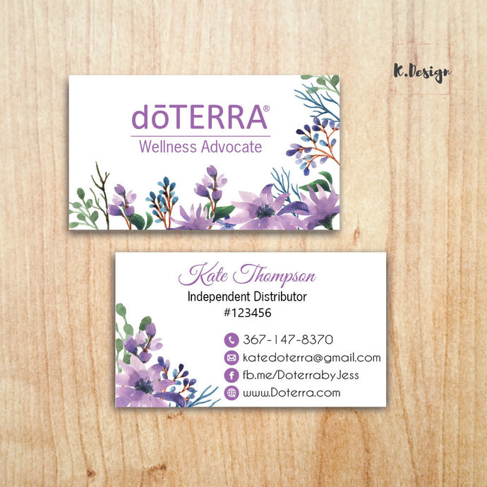 Personalized Doterra Business Card, Doterra Business Cards, Essential Oil card,