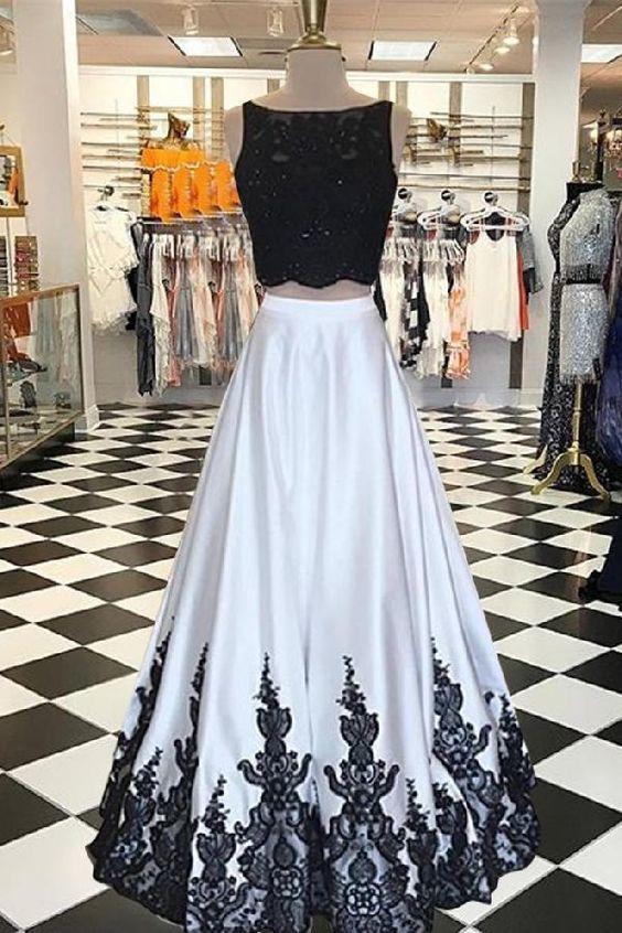 A-Line Bateau Sleeveless Open Back Long Ivory Prom Dress With Beading Lace