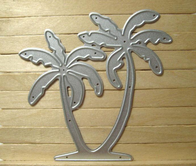 Palm Tree Metal Cutting Die, Coconut Tree Die Style #2
