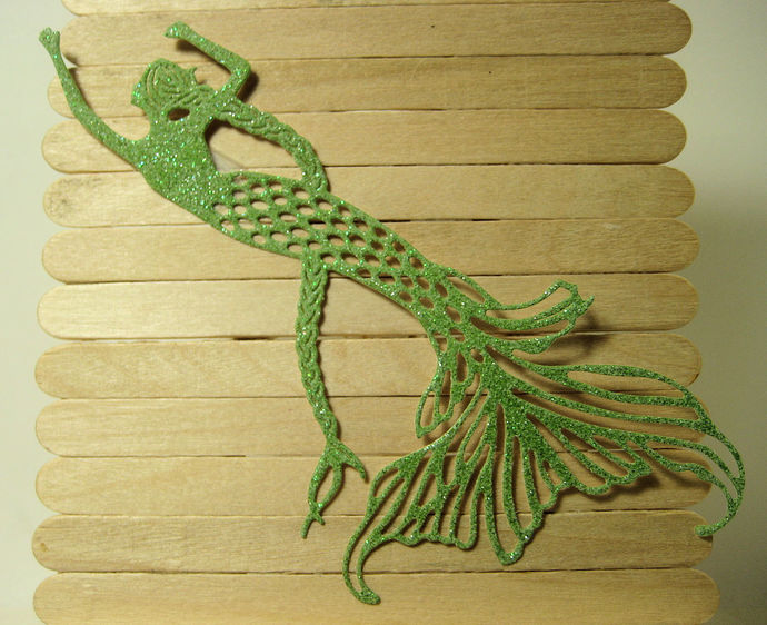 Mermaid with Long Hair Metal Cutting Die Style #4