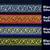 1 cm x 1 m • Silver/Black/Red/Blue/Yellow Thai Fabric Trim Ribbon