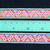 2cm x 1 m • Pink/Blue/Gold/Green/Blue Flower Zigzag Pattern Fabric Trim Ribbon