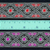 3.3 cm x 1 m • Red/Pink Butterfly Zigzag Flower Pattern Fabric Trim Ribbon