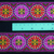 5cm x 1 m • Purple/Red/Green/Withe Flower Traditional Pattern Fabric Trim Ribbon