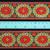 5cm x 1 m • White/Orange Traditional Flower Pattern Fabric Trim Ribbon