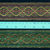 5cm x 1 m • Pink/Red/Green/Blue Wave Flower Pattern Traditional Trim Ribbon