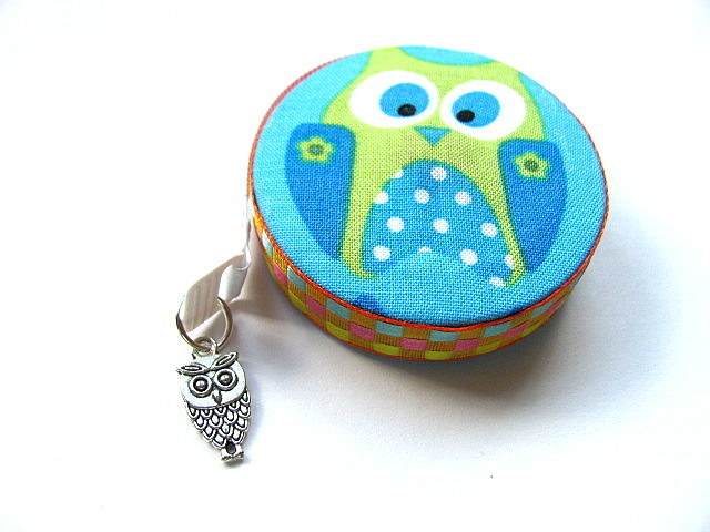 Tape Measure with Lime and Blue Owls Retractable Measuring Tape