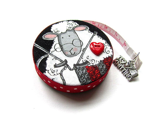 Measuring Tape Knitting Sheep Retractable Pocket Tape Measure