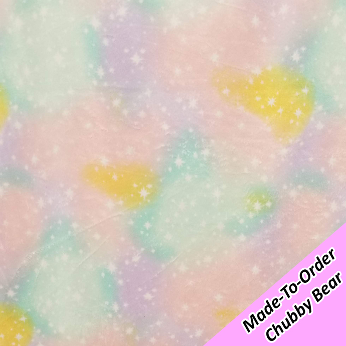 MADE-TO-ORDER CHUBBY BEAR: Pastel Galaxy Minky