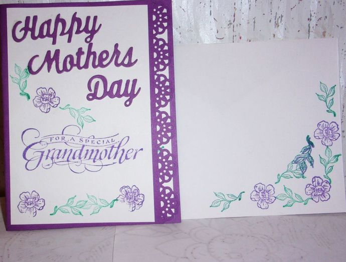 Handmade Greeting Card, Happy Mother's Day Card, Grandmother Greeting Card, Card