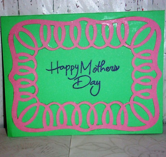 Handmade Greeting Card, Happy Mother's Day Card, Mother Day Greeting Card, Card