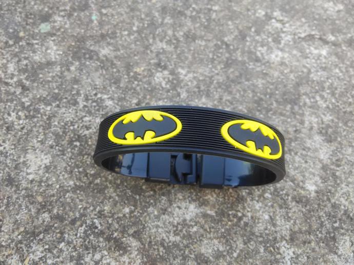 Batman wrist band Unique - black yellow Iconic Design - Free size - gift -