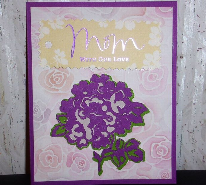 Handmade Greeting Card. Mother's Day Card, Mom with our Love Greeting Card, Card