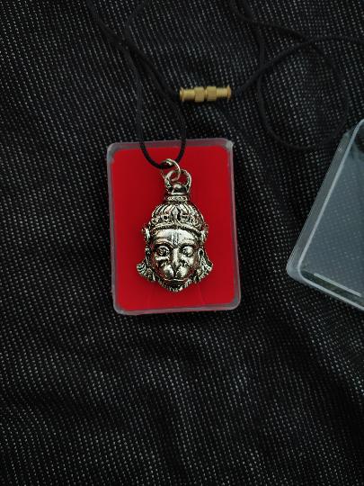 Lord Hanuman Pendant - Lucky - Blessings - Black Metal Pendant - Avatar of the