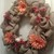 Berlap Wreath with flowers and bird