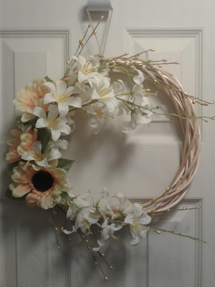 Sunflower and Lily Wreath