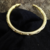 Bronze Engraved Ridged Metallic Cuff Bracelet - Traditional - hand crafted -