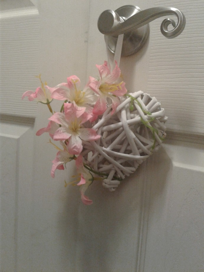 Heart Wreath with Lilies