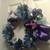 Blue and Purple Wreath, Deco Mesh
