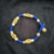 Tribal Bronze Bead knitted blue bracelet - Traditional - hand crafted - bronze