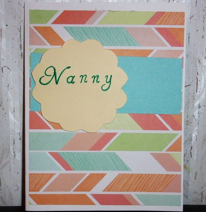 Handmade Greeting Card. Mother's Day Card, Nanna Greeting Card, Card for Mom,