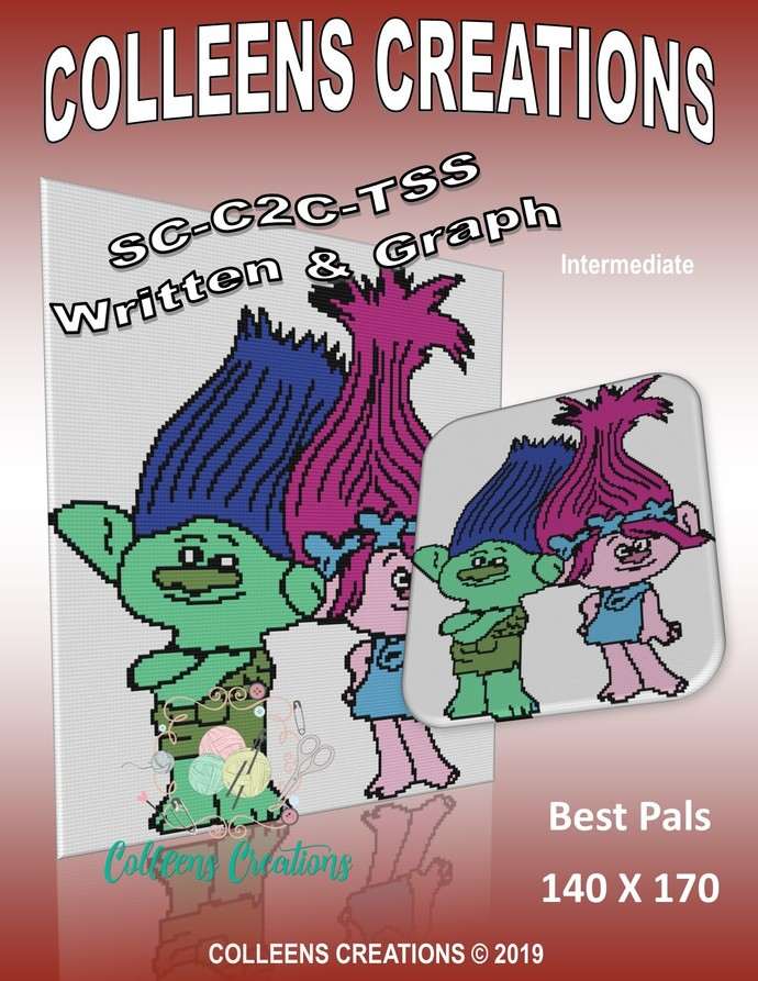 Best Pals -Trolls Crochet Written & Graph Design