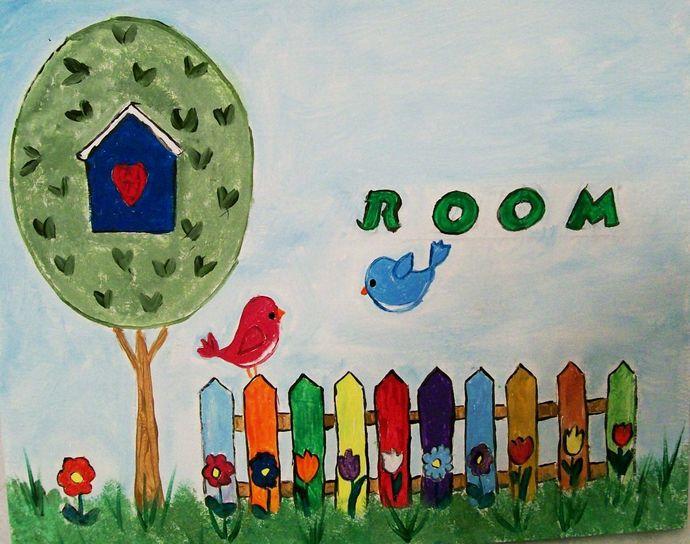 Girls Room Sign, Kids Wall Hanging, Girls Door Hanging, Door Sign for KIds,