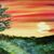 "Painting Print, 8.5x11"", ""Sinking Sun"", Giclée Painting Print, Landscape Print,"