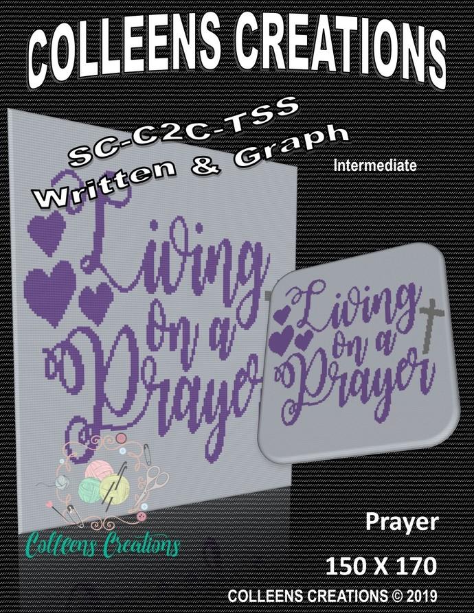 Living on a Prayer Crochet Written and Graph Design