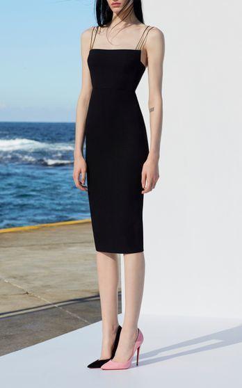 Black sexy prom dress ,spaghetti straps dress