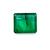 Brazilian Emerald Precious 6.3 x 6.3 mm Square Octagon Loose Gemstone.